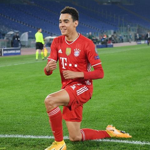 Jamal Musiala im Trikot des FC Bayern