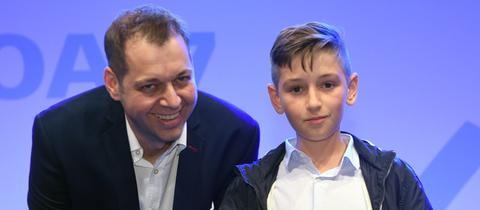 Jason und sein Vater Mirco