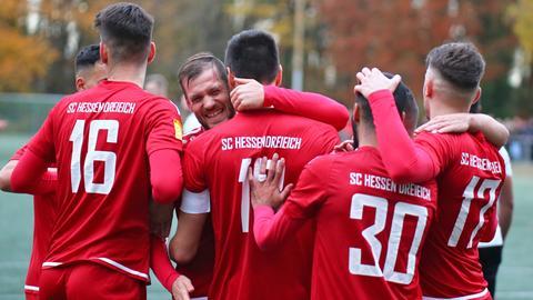 Spieler des SC Hessen Dreieich jubeln
