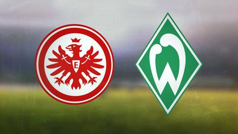 Die Logos von Eintracht Frankfurt und Werder Bremen
