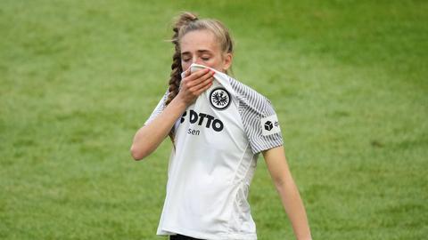 Eine traurige Eintracht-Spielerin