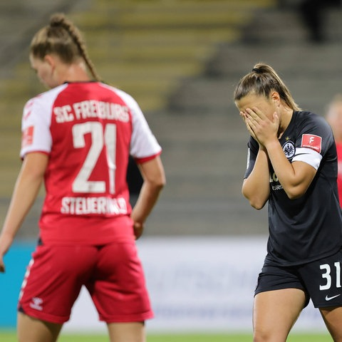Frust bei den Spielerinnen von Eintracht Frankfurt