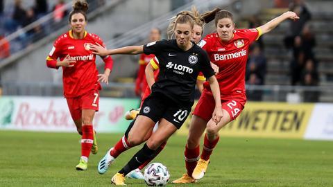 Doppeltorschützin Laura Freigang im Spiel gegen Leverkusen