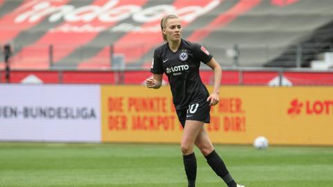 Laura Freigang war nach dem 2:3 gegen Wolfsburg enttäuscht.