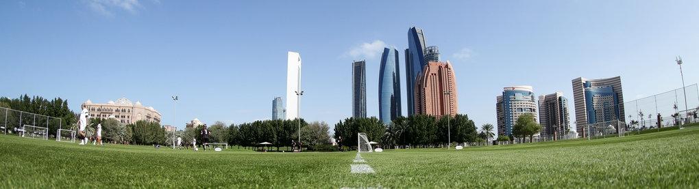 Blick auf Skyline in Abu Dhabi