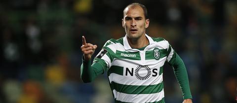 Bas Dost bejubelt eines seiner vielen Tore für Sporting Lissabon