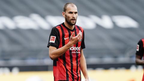 Bas Dost hat insgesamt 43 Pflichtspiele für Eintracht Frankfurt absolviert.