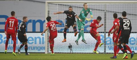 Szene aus dem vergangenen Spiel im Februar 2017, das Leverkusen mit 3:0 für sich entscheiden konnte.