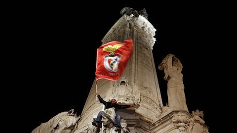 Benfica-Fahne in Lissabon