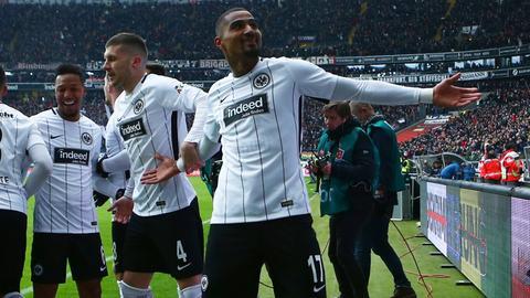 Kevin-Prince Boateng jubelt nach seinem Treffer im Heimspiel gegen Mainz.