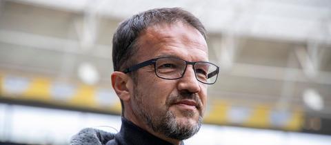 Eintracht-Sportvorstand Fredi Bobic war nach dem 2:1-Sieg gegen Hoffenheim erleichtert.