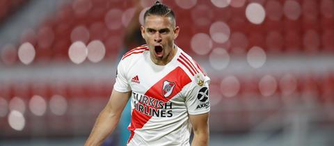 Rafael Santos Borré, hier noch im Trikot von River Plate