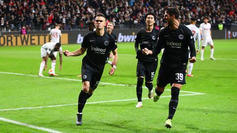 Rafael Borre erzielte das 1:0 gegen Piräus.