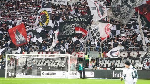 Die Fans von Eintracht Frankfurt.