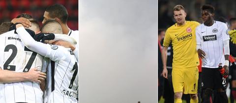 Collage zum Spiel der Eintracht in Heidenheim