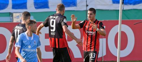 Andre Silva Bas Dost Eintracht Franfkurt 1860 München
