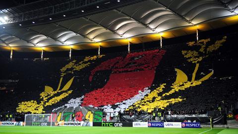 Eine Choroegraphie der Eintracht-Fans