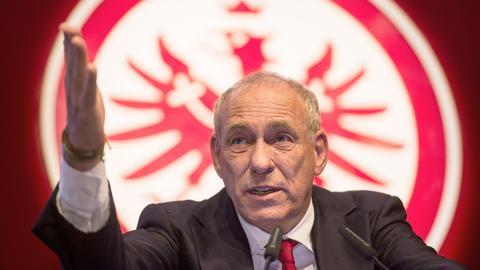 Peter Fischer auf der Mitgliederversammlung
