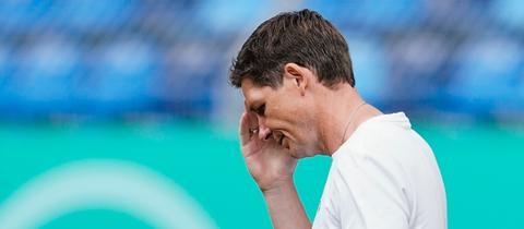 Eintracht-Trainer Oliver Glasner enttäuscht.