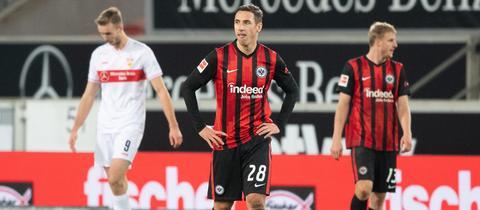 Dominik Kohr im Spiel gegen den VfB Sutttgart.