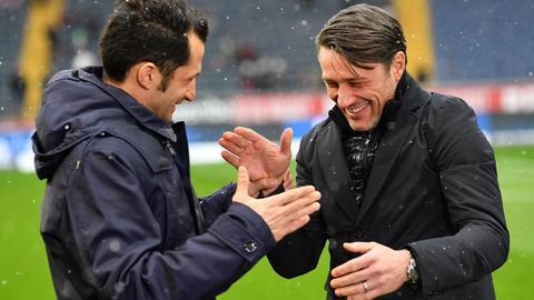 Eintracht-Trainer Niko Kovac mit Hasan Salihamidzic