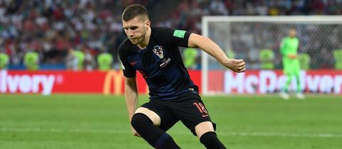 Ante Rebic im Einsatz für die kroatische Fußball-Nationalmannschaft