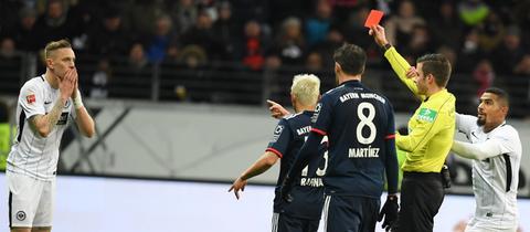 Marius Wolf sieht die Rote Karte