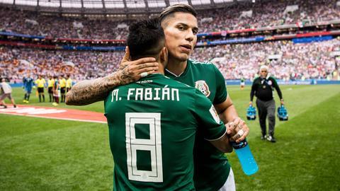 Carlos Salcedo und Marco Fabián sind im WM-Achtelfinale an Brasilien gescheitert.