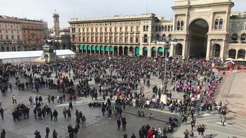 Frankfurter Fans in Mailand