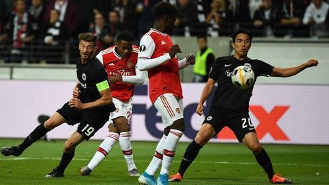Der Treffer zum 1:0 von Arsenal gegen Eintracht Frankfurt