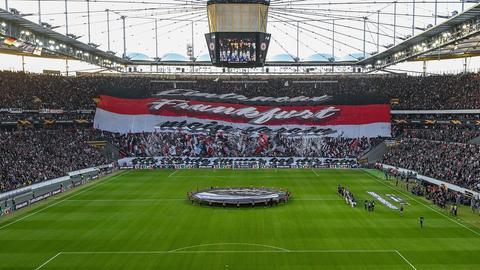 Choreo bei Eintracht Frankfurt gegen Arsenal