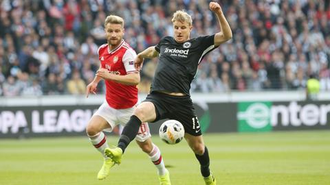 Martin Hinteregger von Eintracht Frankfurt im Spiel gegen Arsenal