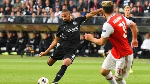 Djibril Sow bei Eintracht Frankfurt vs Arsenal