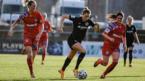 Laura Freigang von Eintracht Frankfurt im Spiel gegen Bayern München