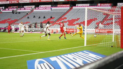 Am Ende gewann der FC Bayern München deutlich mit 5:2 gegen Frankfurt.