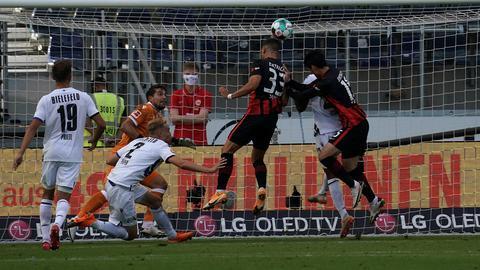 Szene aus der Partie Eintracht - Bielefeld