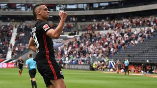 Rafael Borré darf bei seinem Eintracht-Debüt gleich jubeln.