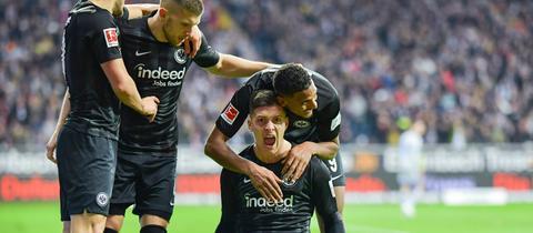Luka Jovic, Sébastien Haller und Ante Rebic ließen die Eintracht-Fans häufig jubeln.