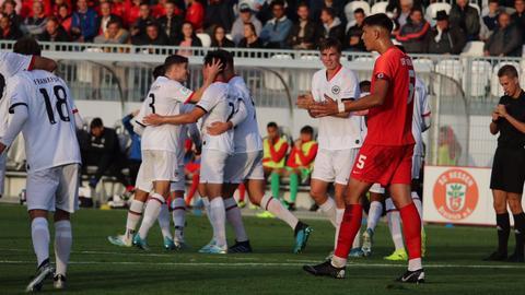 U19-Derby zwischen Eintracht Frankfurt und dem OFC