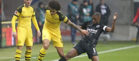 Szene aus dem Spiel Borussia Dortmund gegen Eintracht Frankfurt