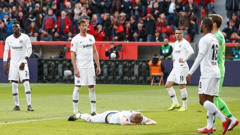 Enttäuschung bei den Eintracht-Spielern