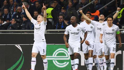 Luka Jovic und seine Kollegen wollen auch in Lissabon jubeln.