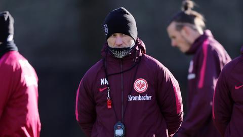 Eintracht-Trainer Niko Kovac beim Training
