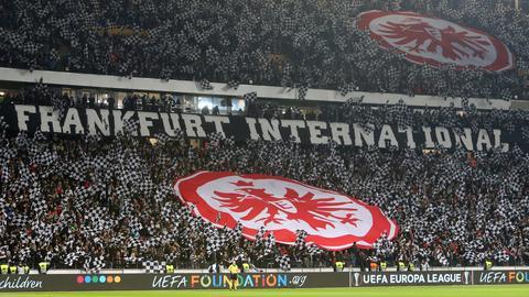 Choreo der Eintracht-Fans