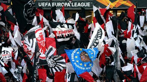 Fans von Eintracht Frankfurt in der Europa League