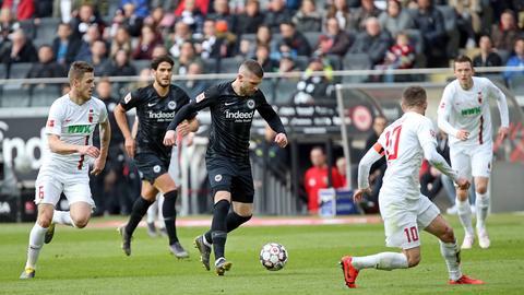 Ante Rebic gegen den FC Augsburg