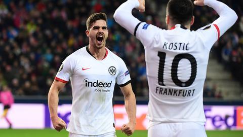 Silva und Kostic von Eintracht Frankfurt