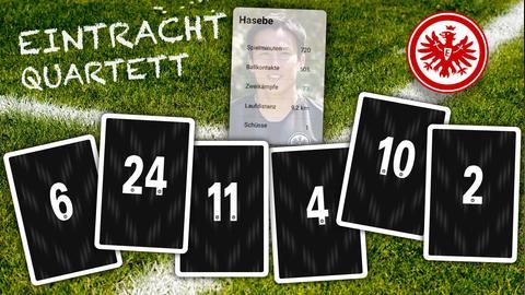 Spielkarten aus dem Eintracht-Frankfurt-Quartett