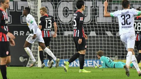 Die Frankfurter Eintracht war erst nach dem 2:4 endgültig geschlagen.