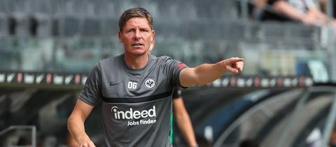 Eintracht-Trainer Oliver Glasner warnt vor Waldhof Mannheim.